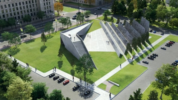 This was the winning design for the new National Memorial to Victims of Communism on Wellington Street in Ottawa. Several people and groups have been critical of the monument's location, design or both.
