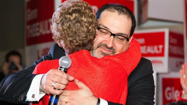 Ontario Premier Kathleen Wynne and Liberal Glenn Thibeault embrace as they celebrate their byelection win in Sudbury on Thursday. But while the byelection is over, the alleged conduct of what led up to it is not, writes CBC's Robert Fisher.