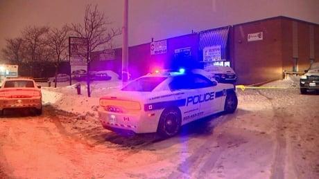 Peel Regional Police cruiser at Melanie Drive homicide scene