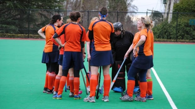 Original Illuminated By Floodlights Is A Cobaltblue Synthetic Field Open To The Chilly Night Air In Deodoro, Where Two Womens Teams Are Running Up And Down The 100yardby60yard Field Wearing Skirts And  Of The Harvard Womens Field Hockey