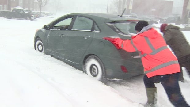 Sunday's storm will make driving treacherous in much of the Maritimes.