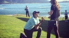 Mark Hubbard proposes to girlfriend on 18th at Pebble Beach