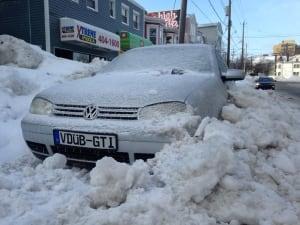 winter storm Halifax Feb 16 2015 winter parking ban snowed in
