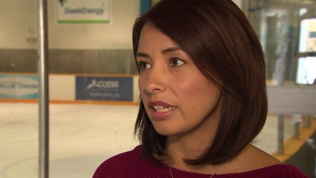 Treena Amyotte says her 14-year-old son has been on the receiving end of racial slurs  during his minor hockey games.