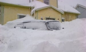 Record snowfall nearly 90 cm van buried in snow PEI Feb 17 2015