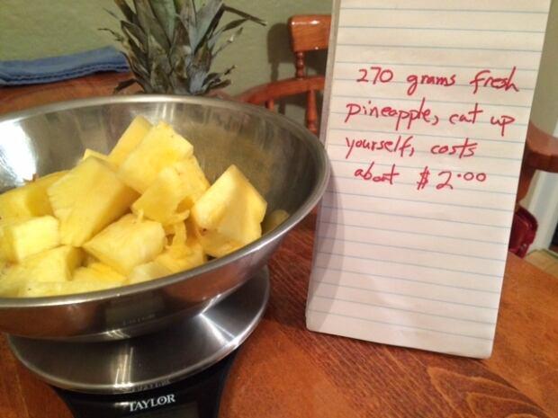 Cut-up pineapple by Nancy Walsh