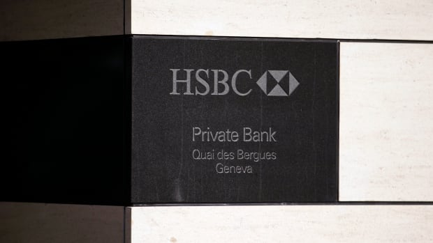 A HSBC logo is pictured at a Swiss branch of the bank, in Geneva on Feb. 9. British bank HSBC Holdings Plc admitted earlier this month failings by its Swiss subsidiary, in response to media reports it helped wealthy customers dodge taxes and conceal millions of dollars of assets.