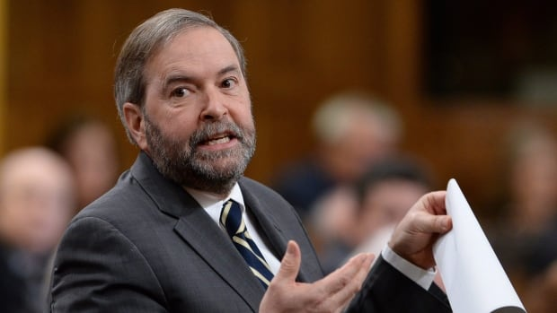 During question period on Tuesday, NDP Leader Tom Mulcair challenged the prime minister to explain how the proposed anti-terror bill wouldn't give him the power to spy on political enemies.