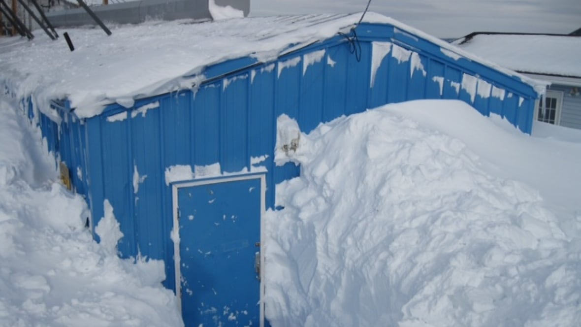 rigolet power plant buried in snow