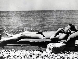 Guy Burgess on the beach
