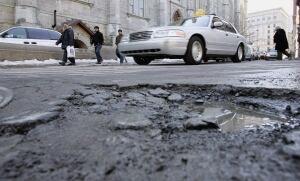 Montreal Mayor Potholes 20130322