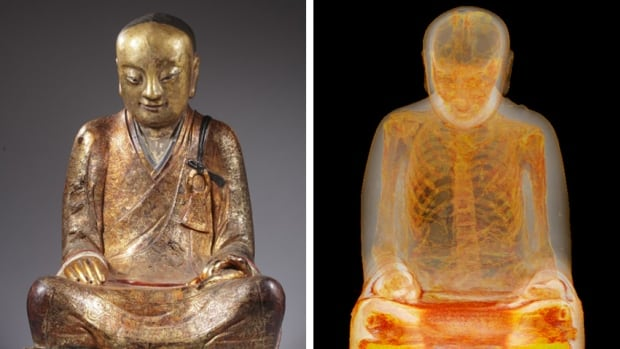 The Buddha statue contains the mummified body of the Buddhist master Liuquan of the Chinese Meditation School, according to the Meander Medical Center in Amersfoort, Netherlands, where the statue was scanned.