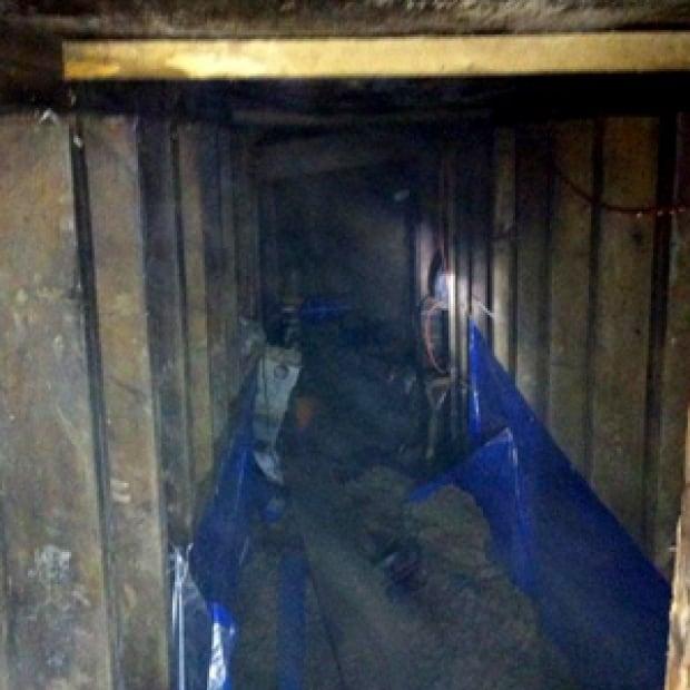 Interior image of mystery tunnel near York University