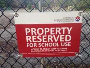 School playground closed