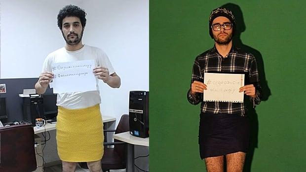 Turkish Men Miniskirt Protest