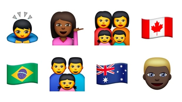New Emojis Canadian Flag Racial Diversity