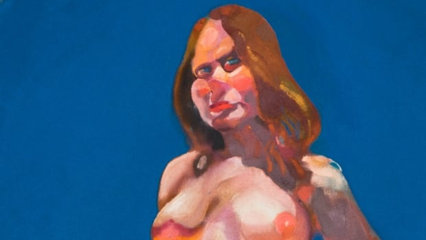 A cropped version of Glenn Howarth's Portrait of Laura No. 1, 1973. View this image, and other selections from the Canadian Art Bank's collection, at the bottom of this post.