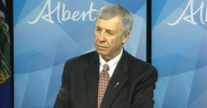 Alberta's finance Minister Robin Campbell in Edmonton