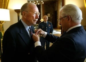 Ernest Cote receives Legion of Honour Award in 2004