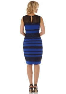 Royal-Blue Lace Detail Bodycon Dress