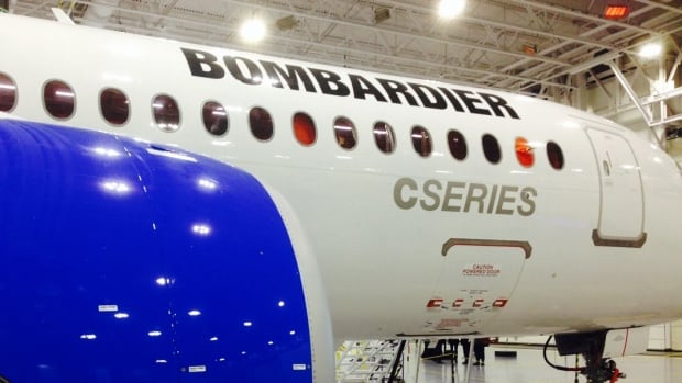Bombardier tested its new CSeries for the first time in the skies over Montreal on Friday Feb. 27, 2015.