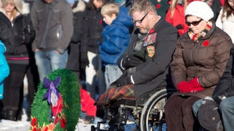 Veterans limbs Remembrance Day