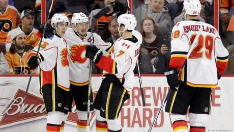 Flames win in Philly