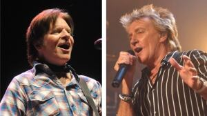 Rod Stewart and John Fogerty