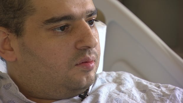 Mohammed Abuquta, 30, has acute myeloid leukemia, which is a cancer of the blood and bone marrow. His brother, who is in Gaza, is a stem cell match.