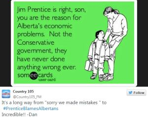 Twitter users put their creativity to the test again today with the hashtag #PrenticeBlamesAlbertans.
