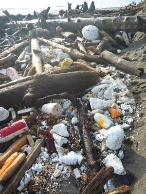 Removing marine debris in Haida Gwaii