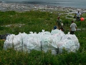 Barging out west coast tsunami debris