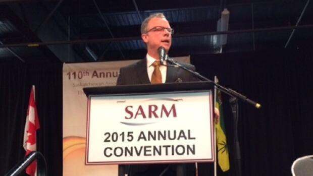 Saskatchewan Premier Brad Wall speaks at the SARM convention.