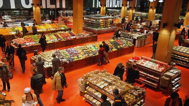 An interior shot of the flagship Loblaws store at the refurbished Maple Leaf Gardens site in downtown Toronto. Loblaws plans to refurbish at least 100 stores as part of a $1.2-billion investment.