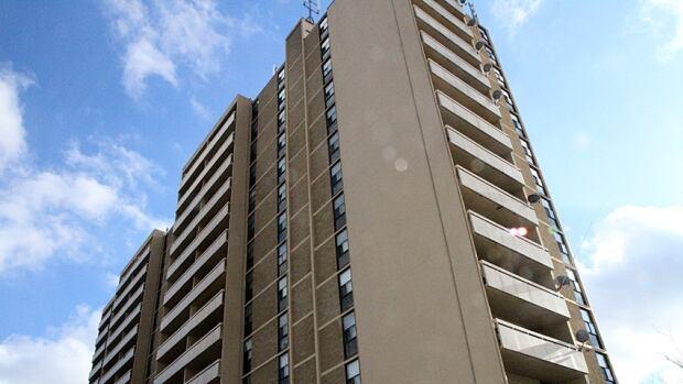 The 150 Sanford high-rise apartment building.
