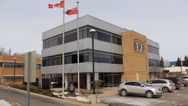 Ontario Provincial Police Association's head office in Barrie, Ont. was the subject of an RCMP raid on Monday.