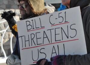 Bill C-51 protest Whitehorse, Yukon