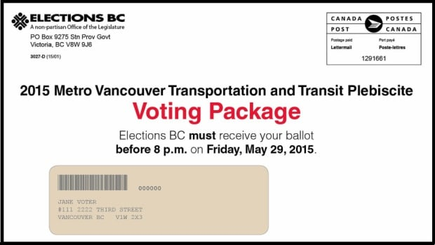 Sample voting package for transit plebiscite