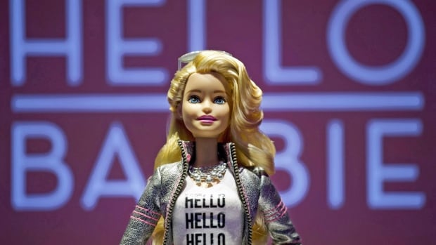 Hello Barbie is displayed at the Mattel showroom at the North American International Toy Fair in February. The doll's ability to record conversations and engage in a two-way dialogue worries privacy advocates, who want Mattel to dump the concept.