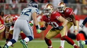 The San Francisco 49ers announced on Monday that linebacker Chris Borland, middle, is retiring from the NFL.