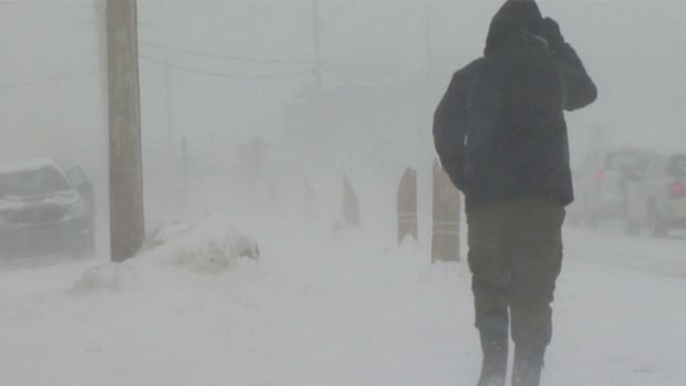 New Brunswick is getting a mix of snow, ice pellets and freezing rain, along with a major rise in temperature overnight.