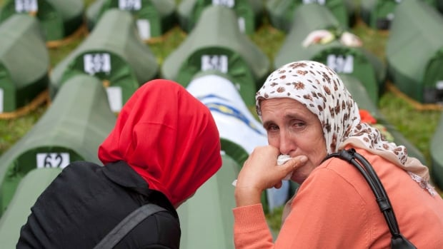More than 8,000 Bosnian Muslims were killed in the eastern Bosnian enclave by the Serbs in 1995 — the only atrocity in Europe to be labelled genocide by the United Nations since the Second World War.