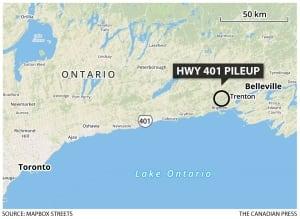 Hwy. 401 locator map