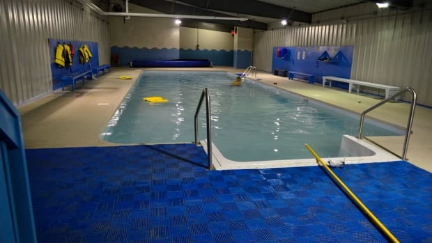 Pangnirtung pool on schedule to re open this summer north cbc news for Indoor swimming pool building regulations