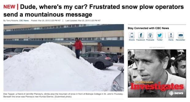 Snow newfoundland