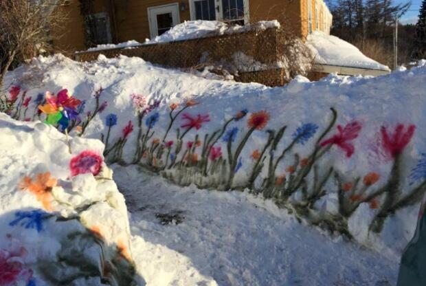 flowers snow spring halifax