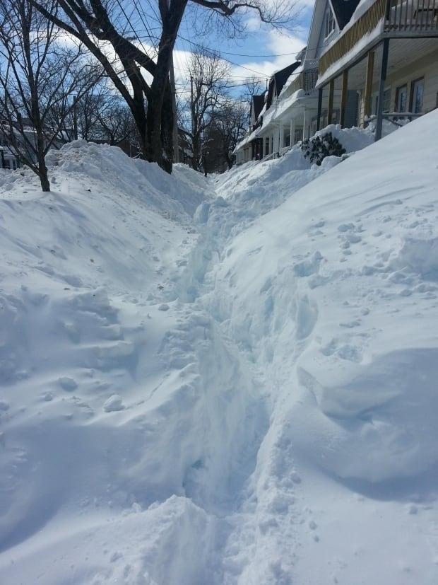 sidewalks snow