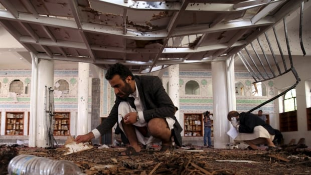 The suicide bombing followed by a car explosion in Sanaa on Wednesday is the latest in a string of attacks on mosques in Yemen. One of the deadliest militant attacks in years happened at this mosque in March 2015.