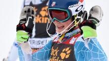 Mikaela Shiffrin wins 3rd World Cup slalom crown