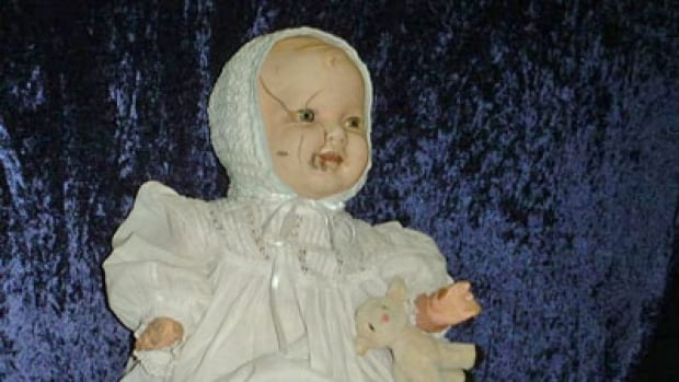 'Mandy' - a doll rumoured to be haunted - has now got her own QR code, to share stories of her creepy past with spooked visitors at the Quesnel & District Museum.